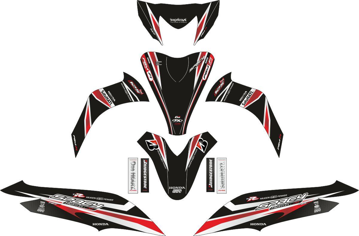 Комплект наклеек на скутер HONDA SPACY SKY WAVE GRAFFIS