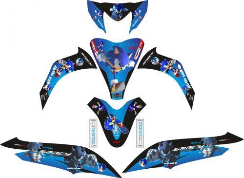 Комплект наклеек на скутер HONDA SPACY SONIC