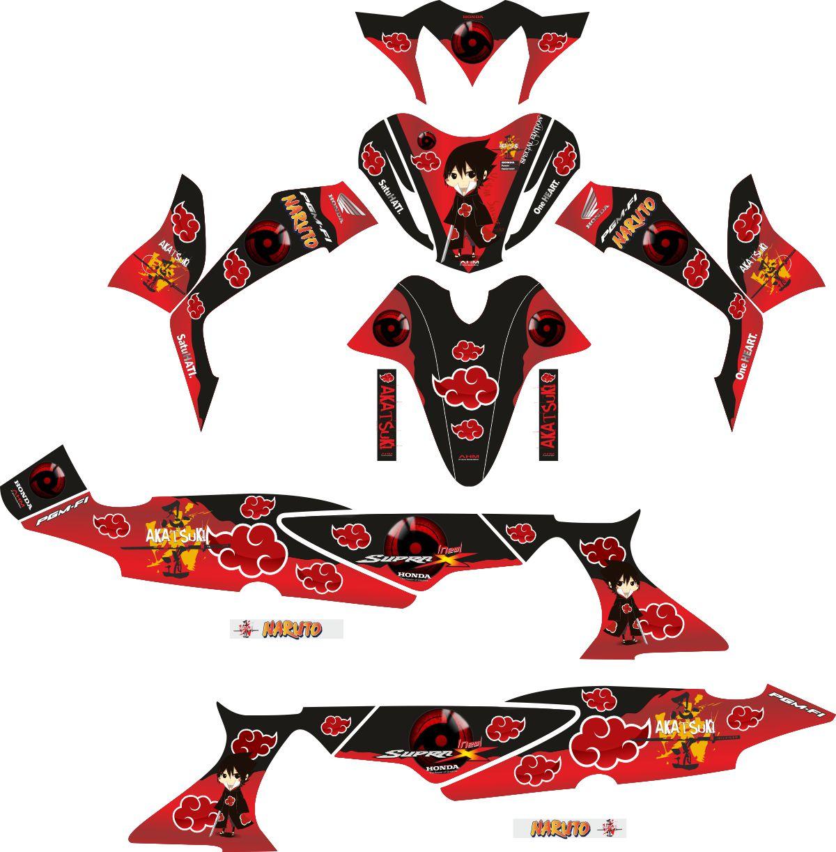 Комплект наклеек на скутер HONDA SUPRA X 125 AKATSUKI