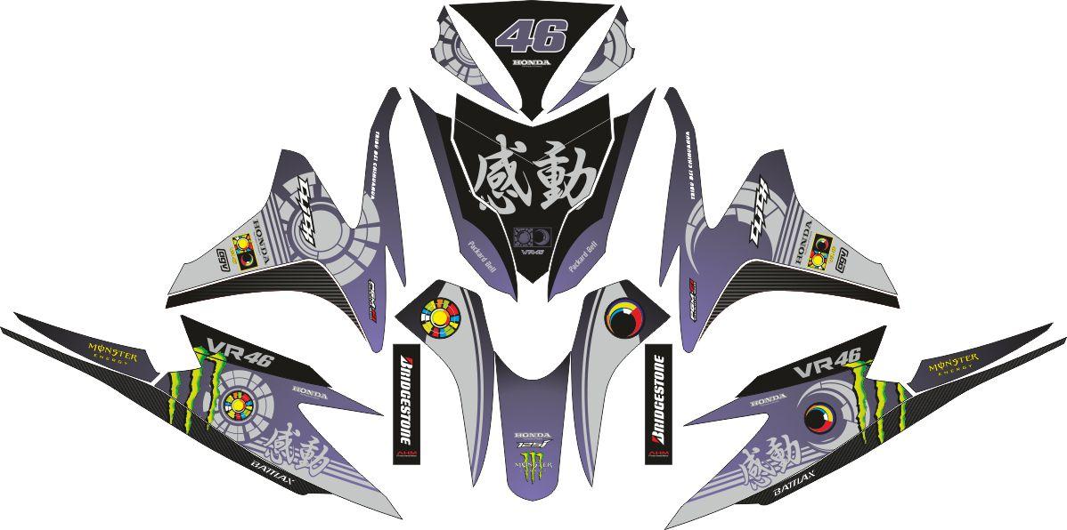 Комплект наклеек на скутер HONDA VARIO FI 125 VR46