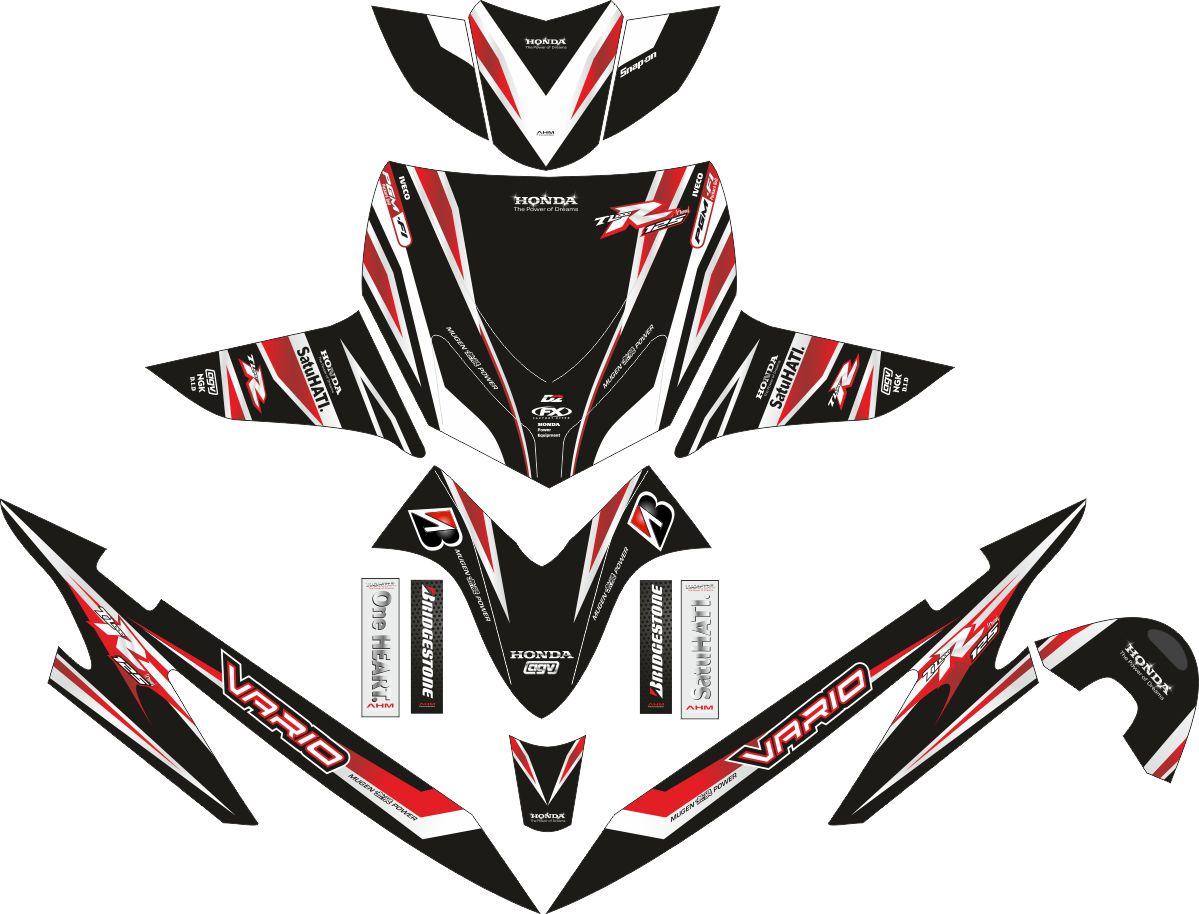 Комплект наклеек на скутер HONDA VARIO LAMA HAYABUSA