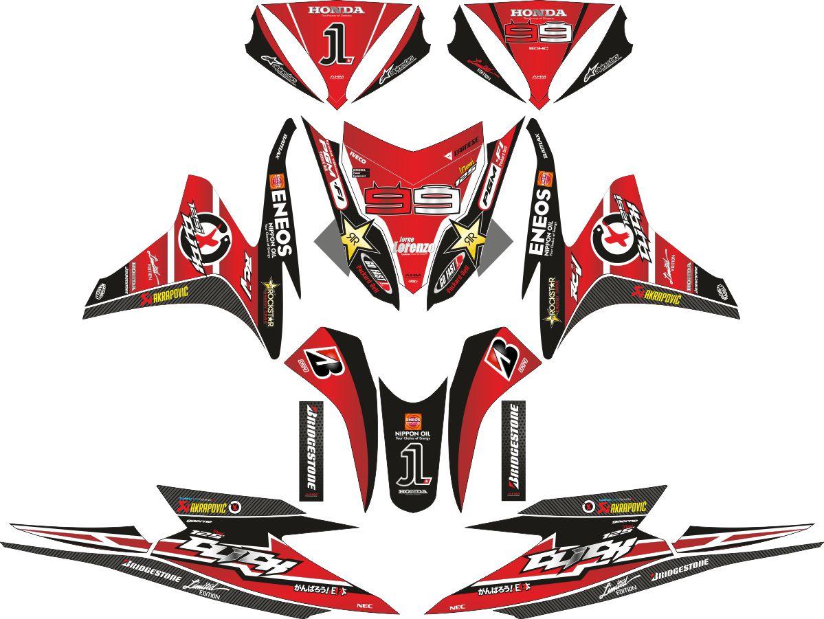 Комплект наклеек на скутер HONDA VARIO LORENZO