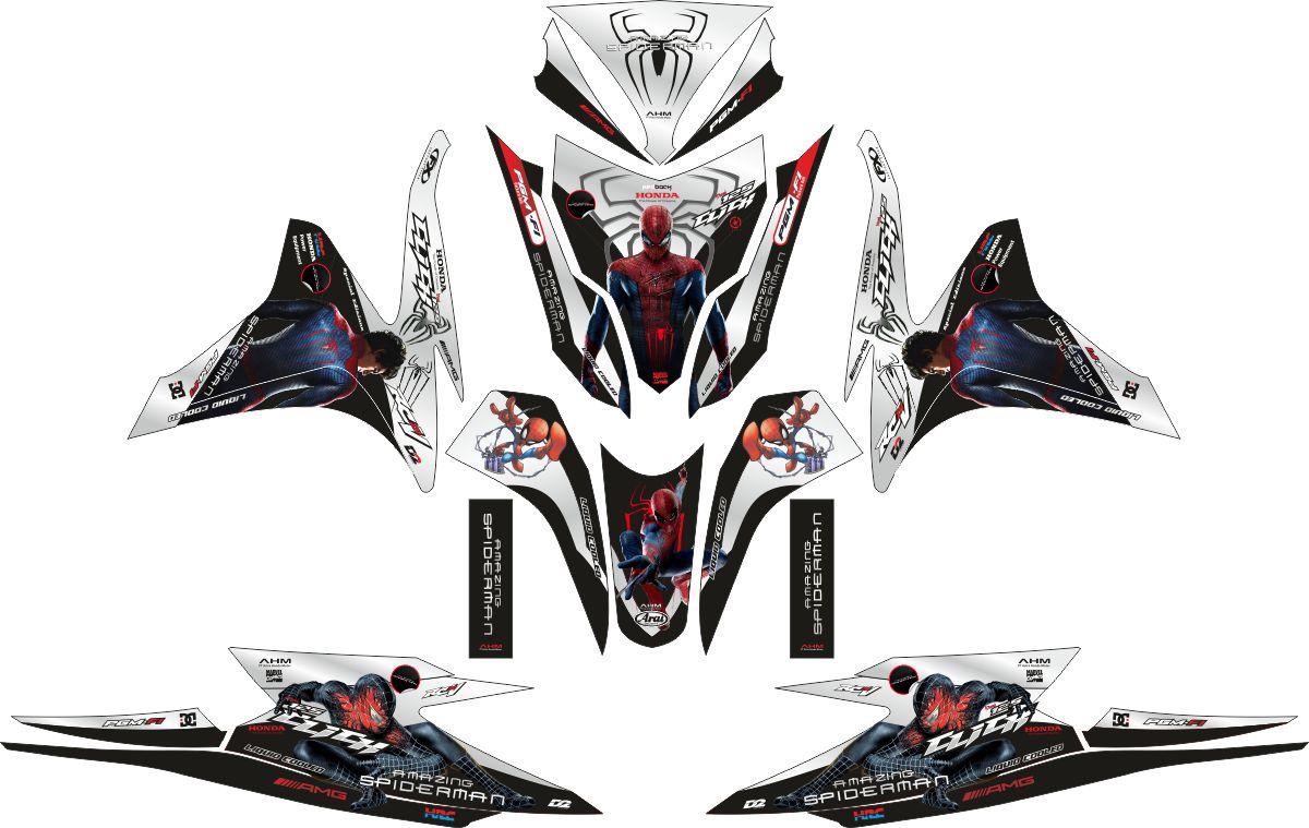 Комплект наклеек на скутер HONDA VARIO PGMFI SPIDERMAN