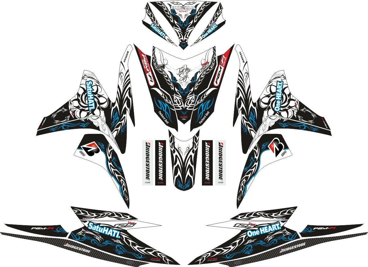 Комплект наклеек на скутер HONDA VARIO PGMFI TRIBAL