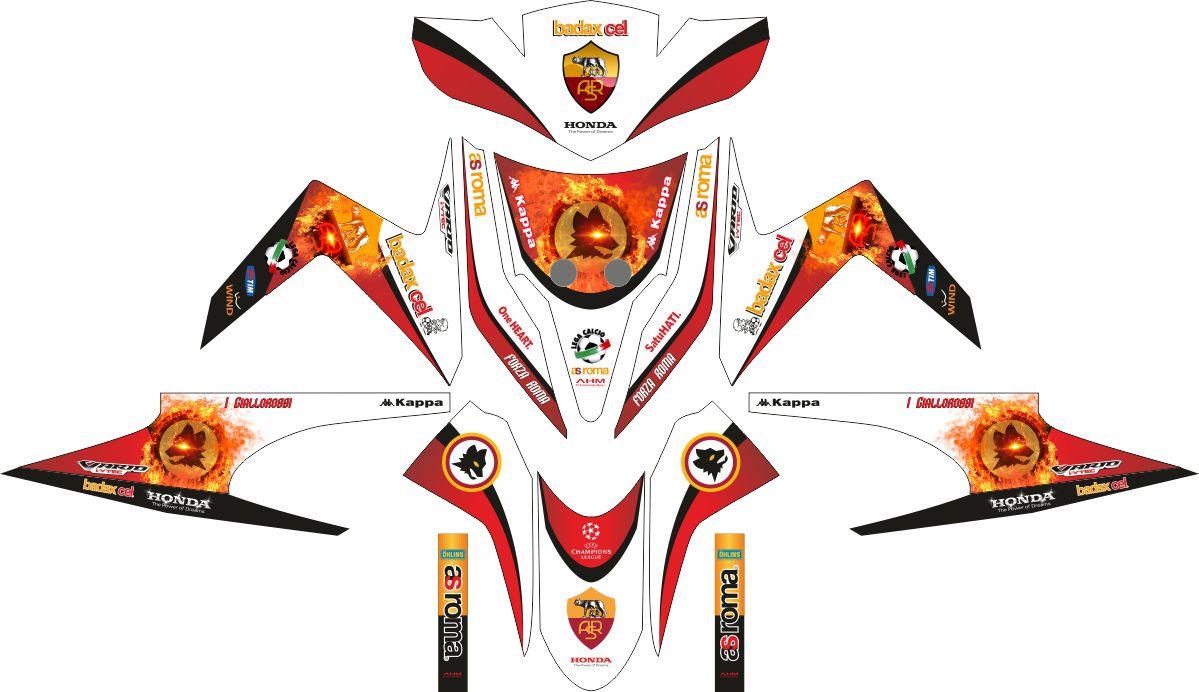 Комплект наклеек на скутер HONDA VARIO TECHNO AS ROMA