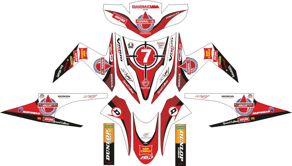 Комплект наклеек на скутер HONDA VARIO TECHNO DONNY