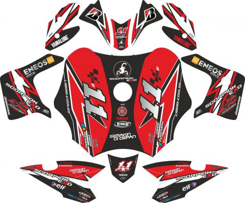 Комплект наклеек на скутер YAMAHA SCORPIO Z 225