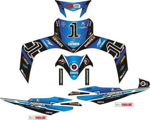 Комплект наклеек на скутер YAMAHA JUPITER MX 99 LORENZO