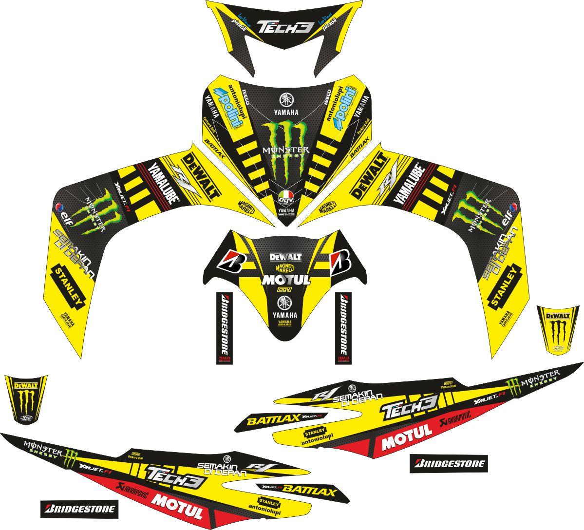 Комплект наклеек на скутер YAMAHA JUPITER MX 2007 TECH3
