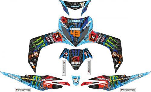 Комплект наклеек на скутер YAMAHA JUPITER MX BLUE HOONIGAN 2006