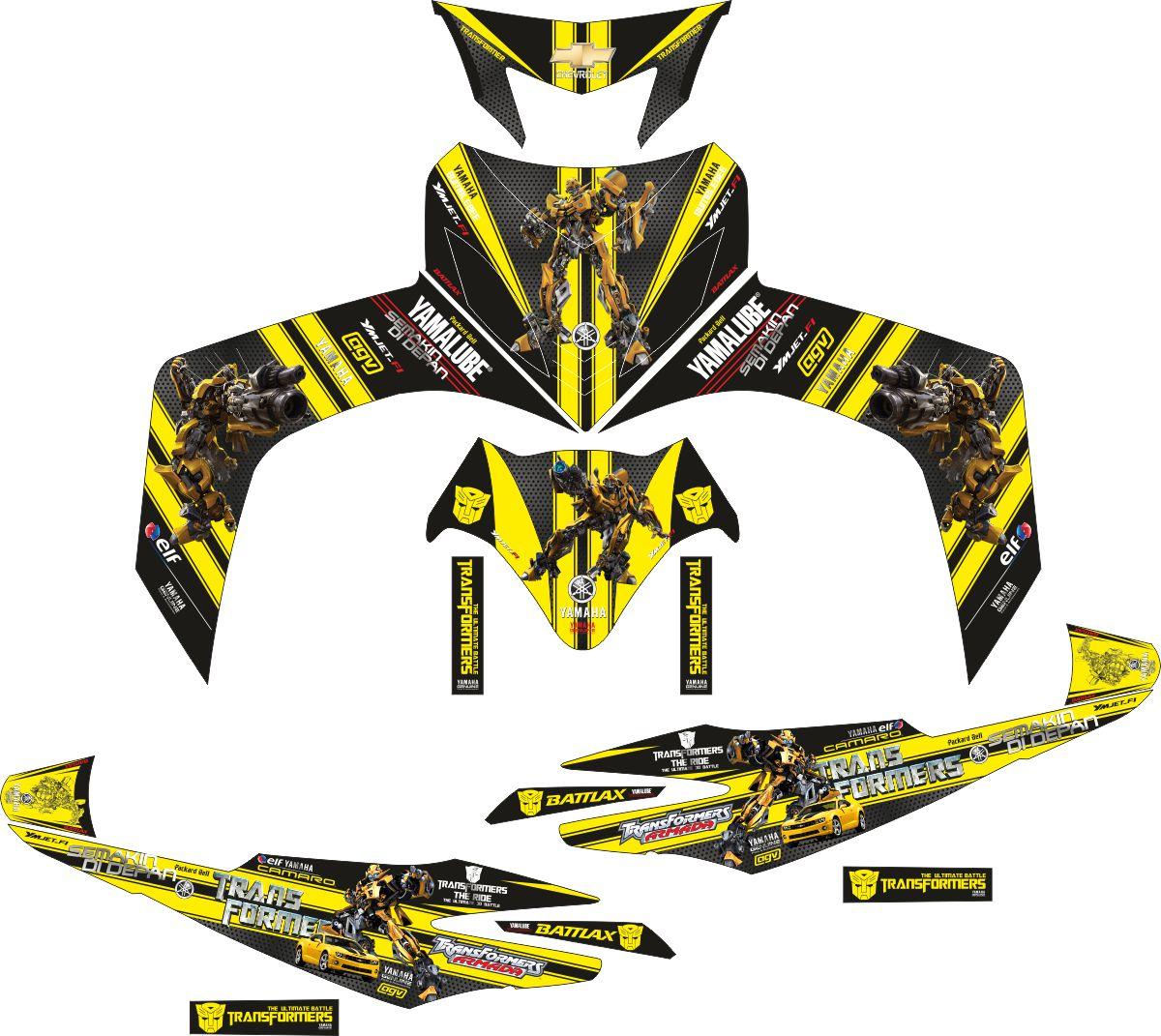 Комплект наклеек на скутер YAMAHA JUPITER MX BUMBLEBEE 2006