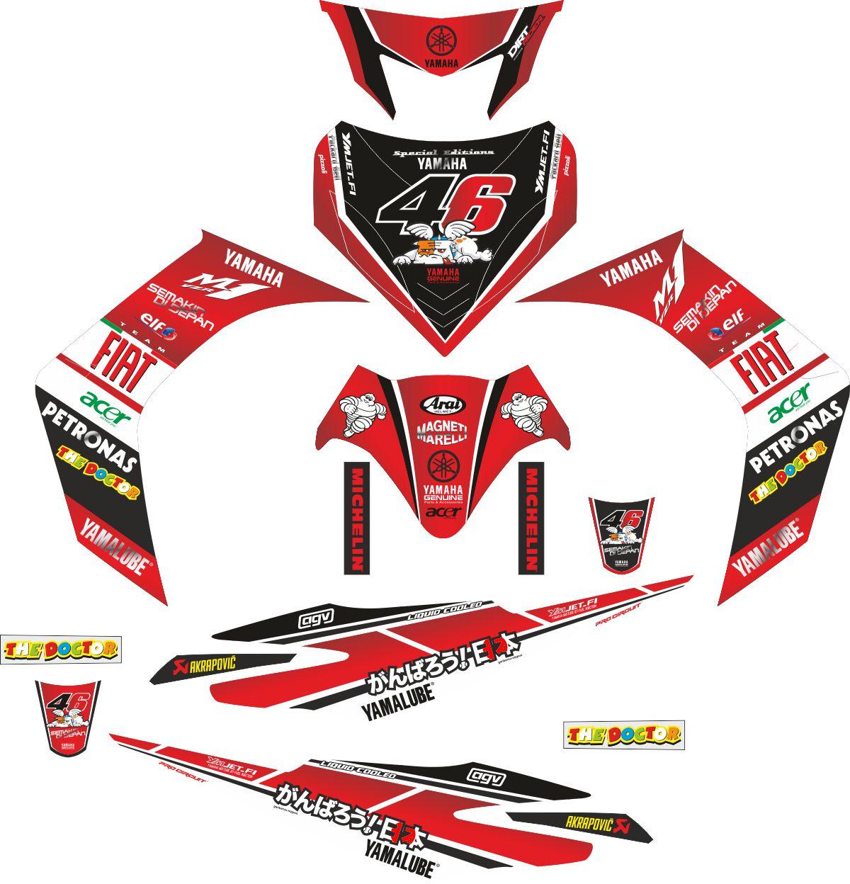 Комплект наклеек на скутер YAMAHA JUPITER MX FIAT 2006