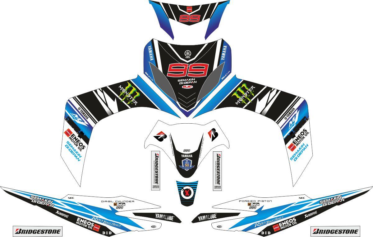 Комплект наклеек на скутер YAMAHA JUPITER MX JORGE LORENZO 2006