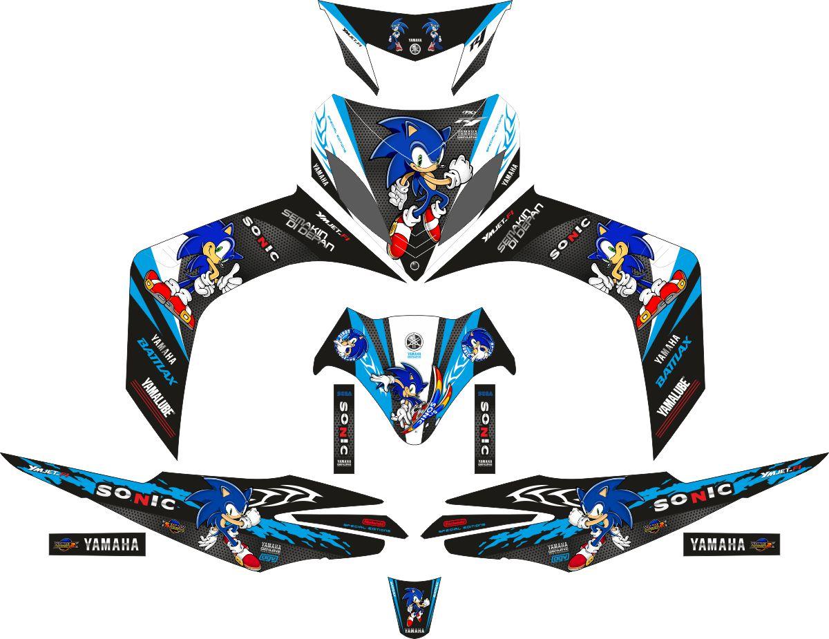 Комплект наклеек на скутер YAMAHA JUPITER MX SONIC