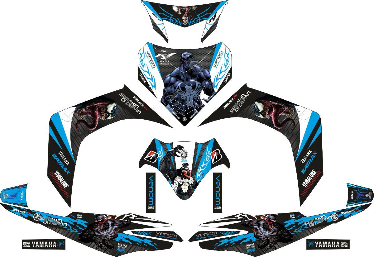 Комплект наклеек на скутер YAMAHA JUPITER MX VENOM