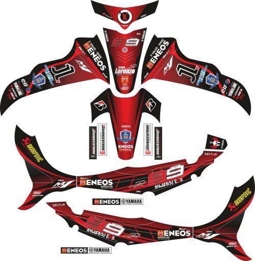 Комплект наклеек на скутер YAMAHA JUPITER Z 1999 2008