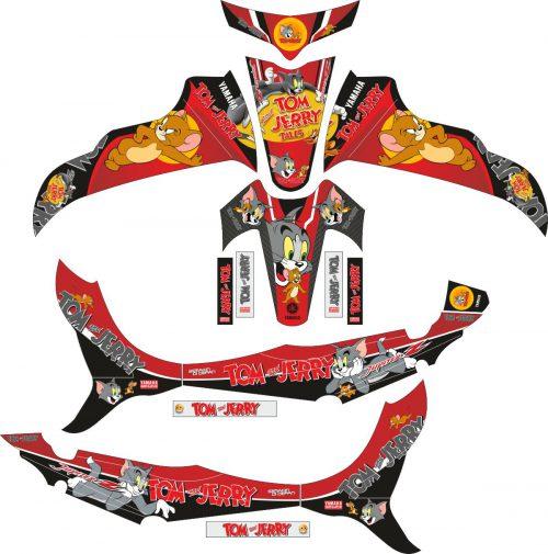 Комплект наклеек на скутер YAMAHA JUPITER Z TOM JERRY 2008