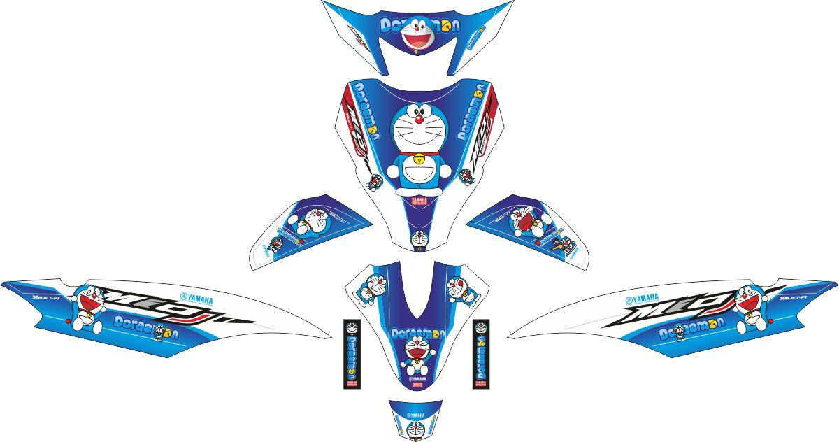 Комплект наклеек на скутер YAMAHA MIO J DORAEMON