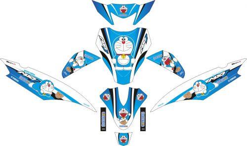 Комплект наклеек на скутер YAMAHA MIO J DORAEMON BLUE WHITE