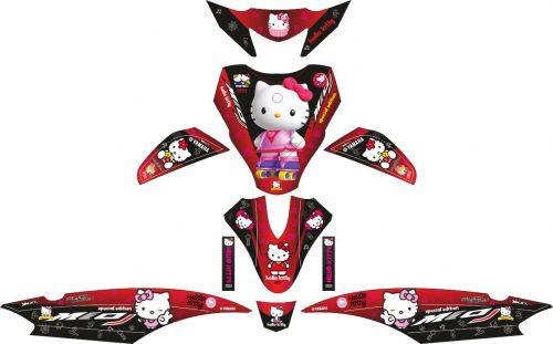 Комплект наклеек на скутер YAMAHA MIO J HELLO KITTY