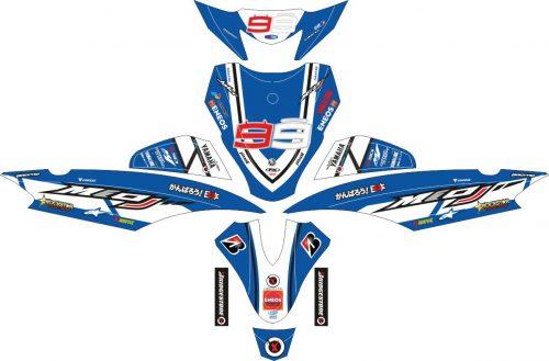 Комплект наклеек на скутер YAMAHA MIO J OLD ENEOS LORENZO BLUE 2010