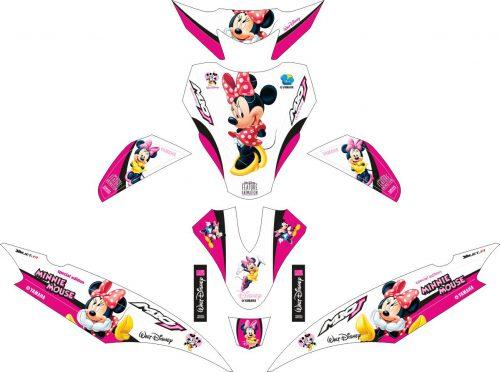 Комплект наклеек на скутер YAMAHA MIO J PUTIH MINNIE MOUSE