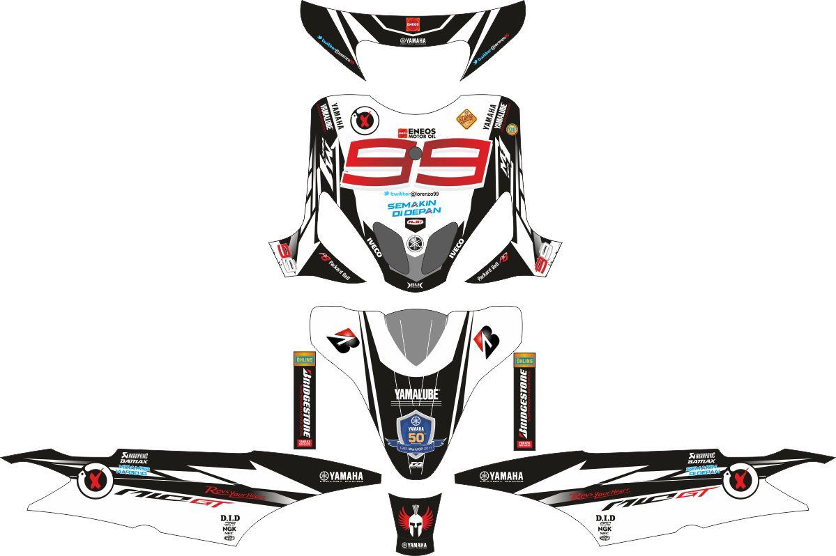 Комплект наклеек на скутер YAMAHA MIO SPORTY CATALUNYA