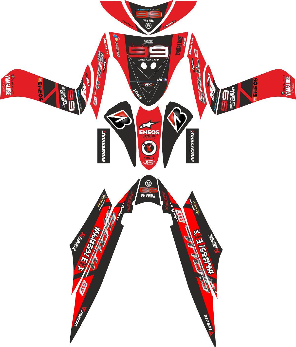 Комплект наклеек на скутер YAMAHA SOUL 2010