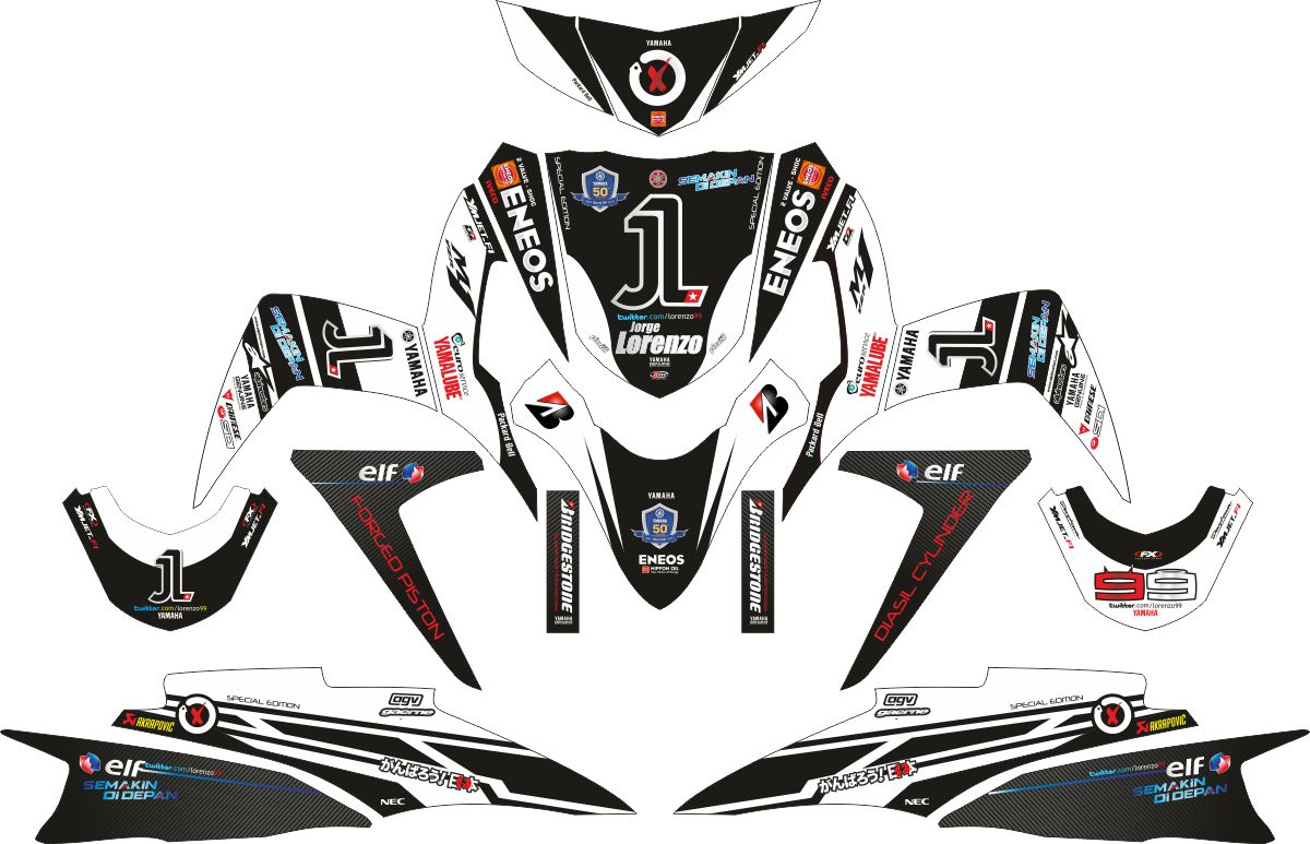 Комплект наклеек на скутер YAMAHA SOUL GT 1