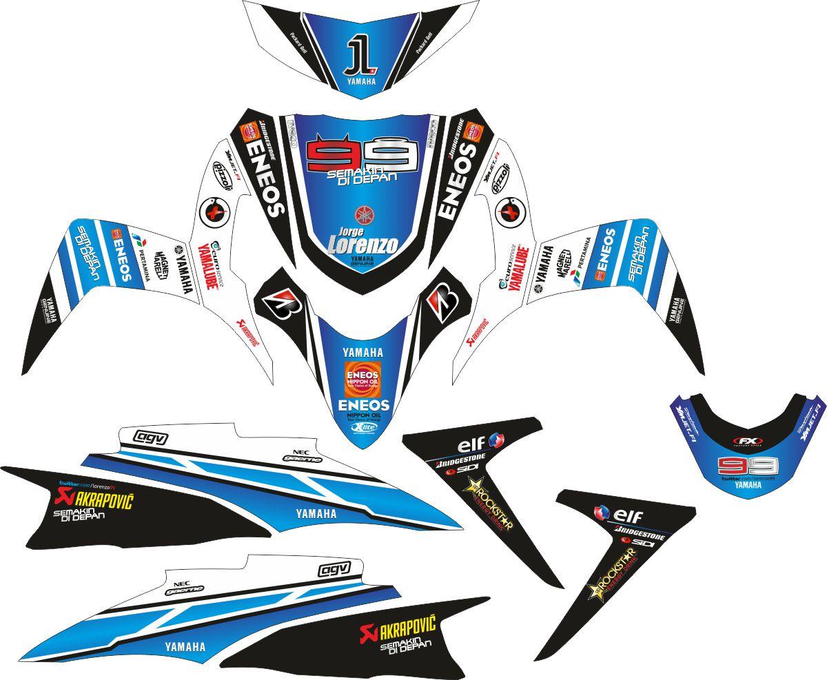 Комплект наклеек на скутер YAMAHA SOUL GT BLUE