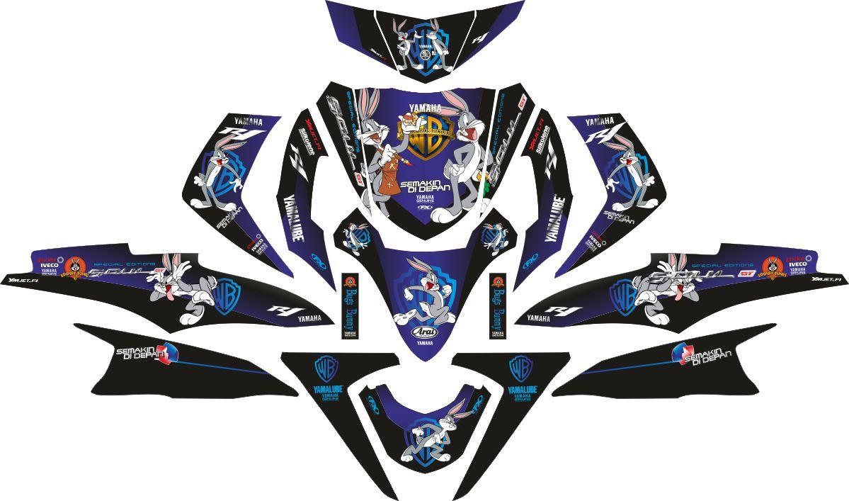 Комплект наклеек на скутер YAMAHA SOUL GT BUGS BUNNY