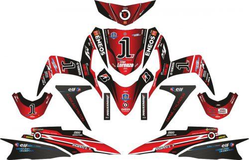 Комплект наклеек на скутер YAMAHA SOUL GT LORENZO