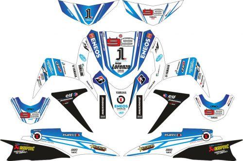 Комплект наклеек на скутер YAMAHA SOUL GT LORENZO 2