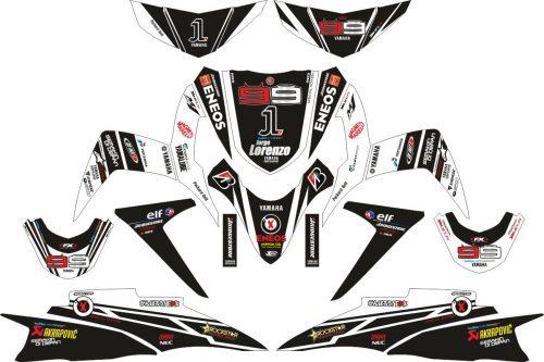 Комплект наклеек на скутер YAMAHA SOUL GT LORENZO 3