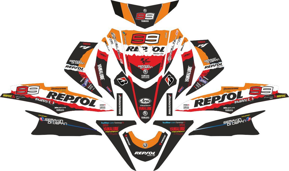 Комплект наклеек на скутер YAMAHA SOUL GT REPSOL
