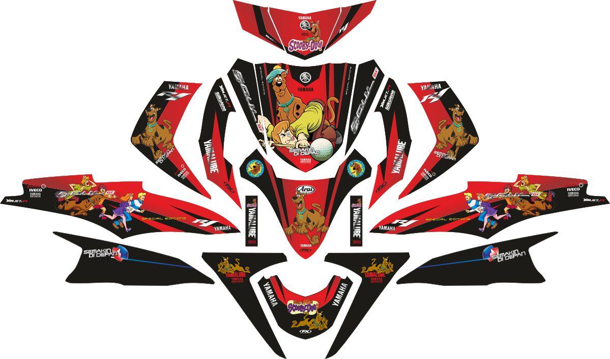 Комплект наклеек на скутер YAMAHA SOUL GT SCOOBY DOO