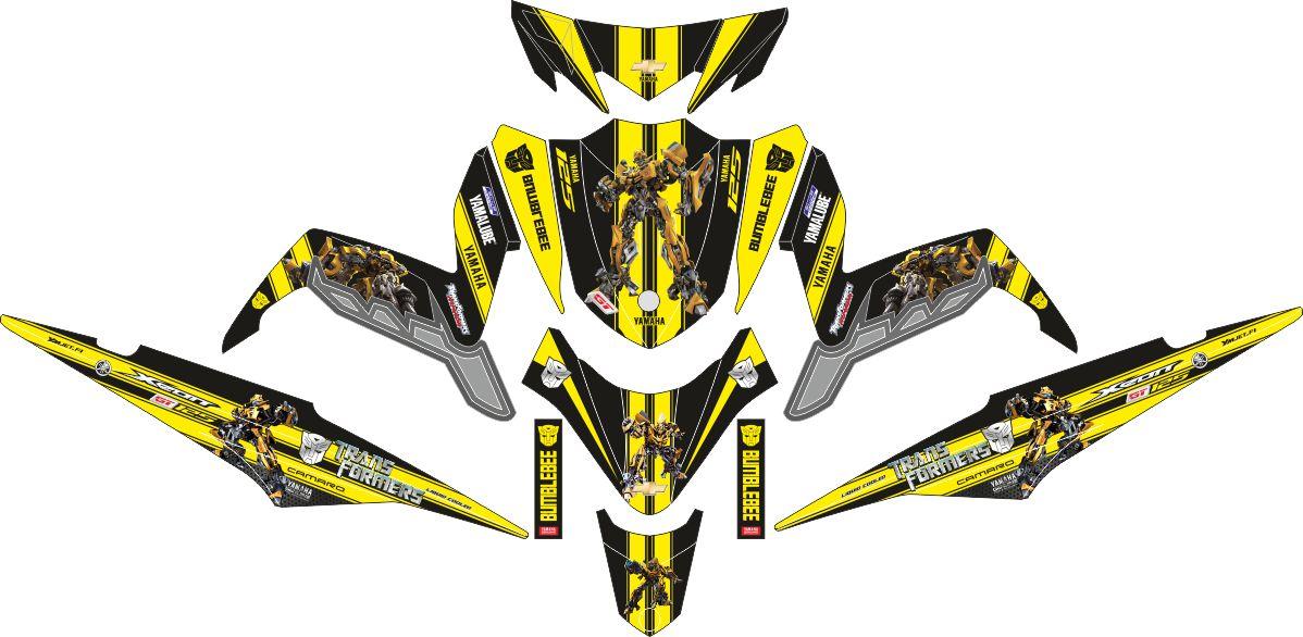 Комплект наклеек на скутер YAMAHA XEON GT 125 CAMMARO BUMBLE