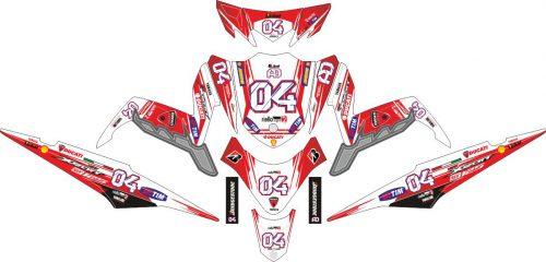 Комплект наклеек на скутер YAMAHA XEON GT 125 DUCATI LIGHT 2004