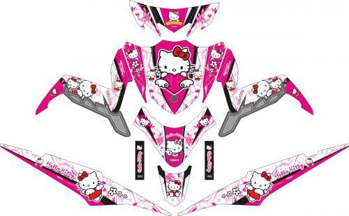 Комплект наклеек на скутер YAMAHA XEON GT 125 HELLO KITTY PINK