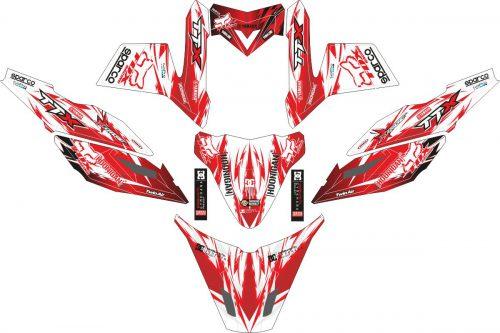 Комплект наклеек на скутер YAMAHA TTX