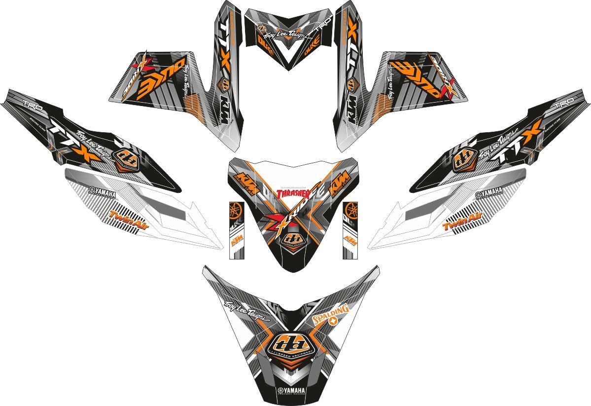 Комплект наклеек на скутер YAMAHA TTX NEW DUKE