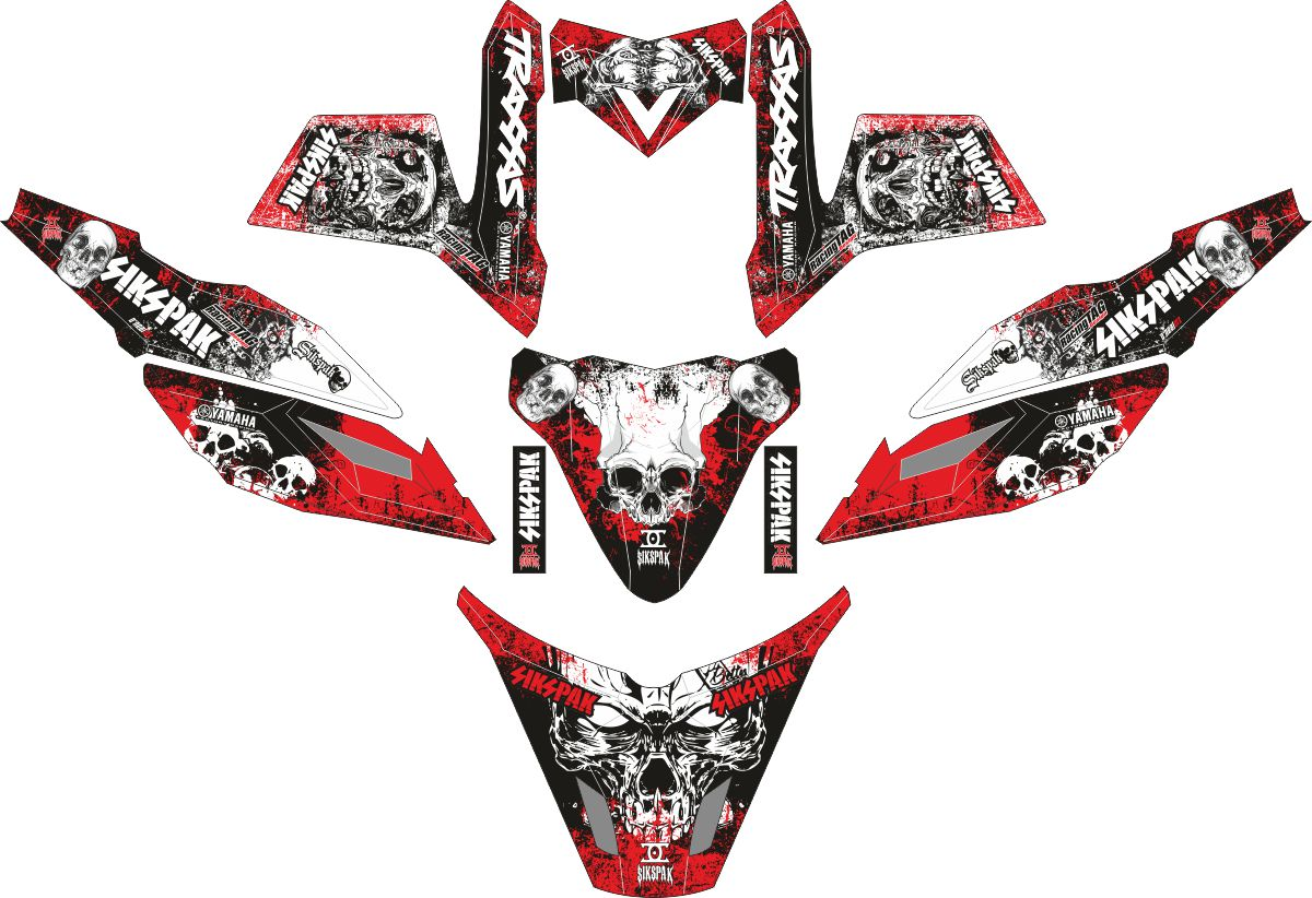 Комплект наклеек на скутер YAMAHA TTX RIDE 2