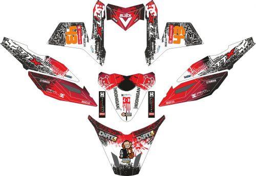 Комплект наклеек на скутер YAMAHA TTX RIDE DC SHOES