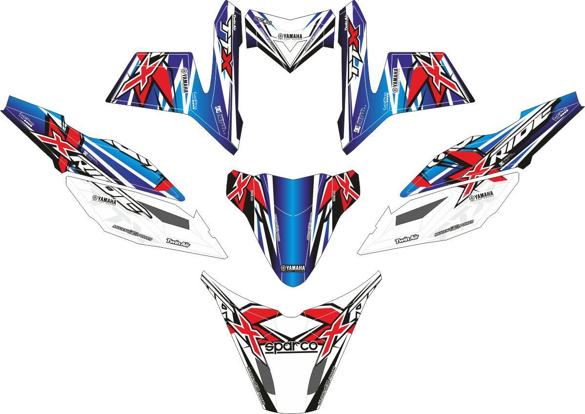 Комплект наклеек на скутер YAMAHA TTX RIDE GSX MUGEN POWER