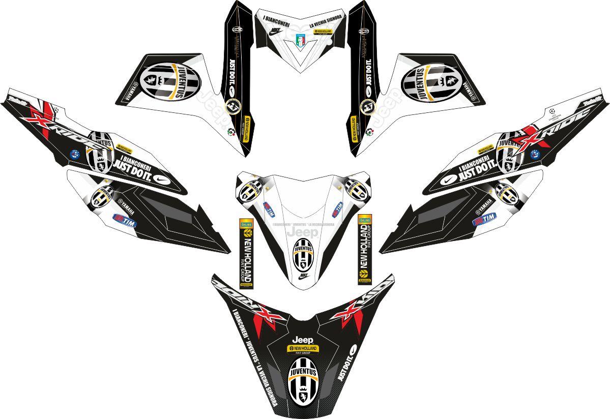 Комплект наклеек на скутер YAMAHA TTX RIDE JUVENTUS