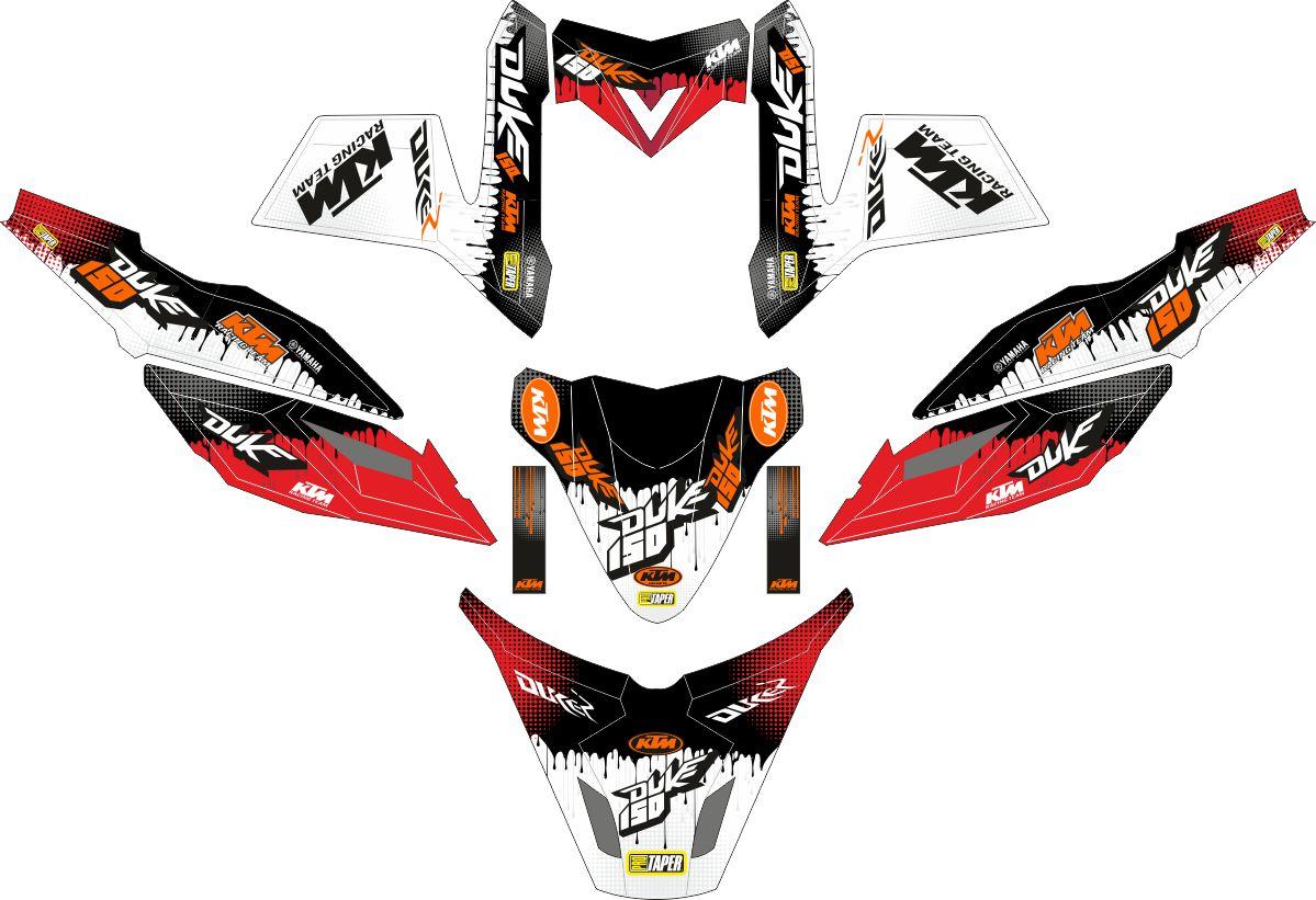 Комплект наклеек на скутер YAMAHA TTX RIDE KTM DUKE STYLE