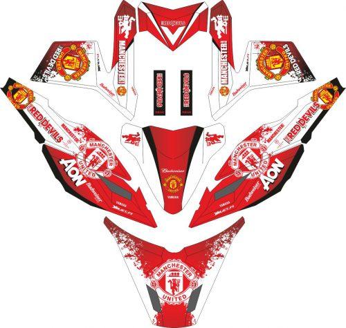 Комплект наклеек на скутер YAMAHA TTX X RIDE MANCHESTER UNITED
