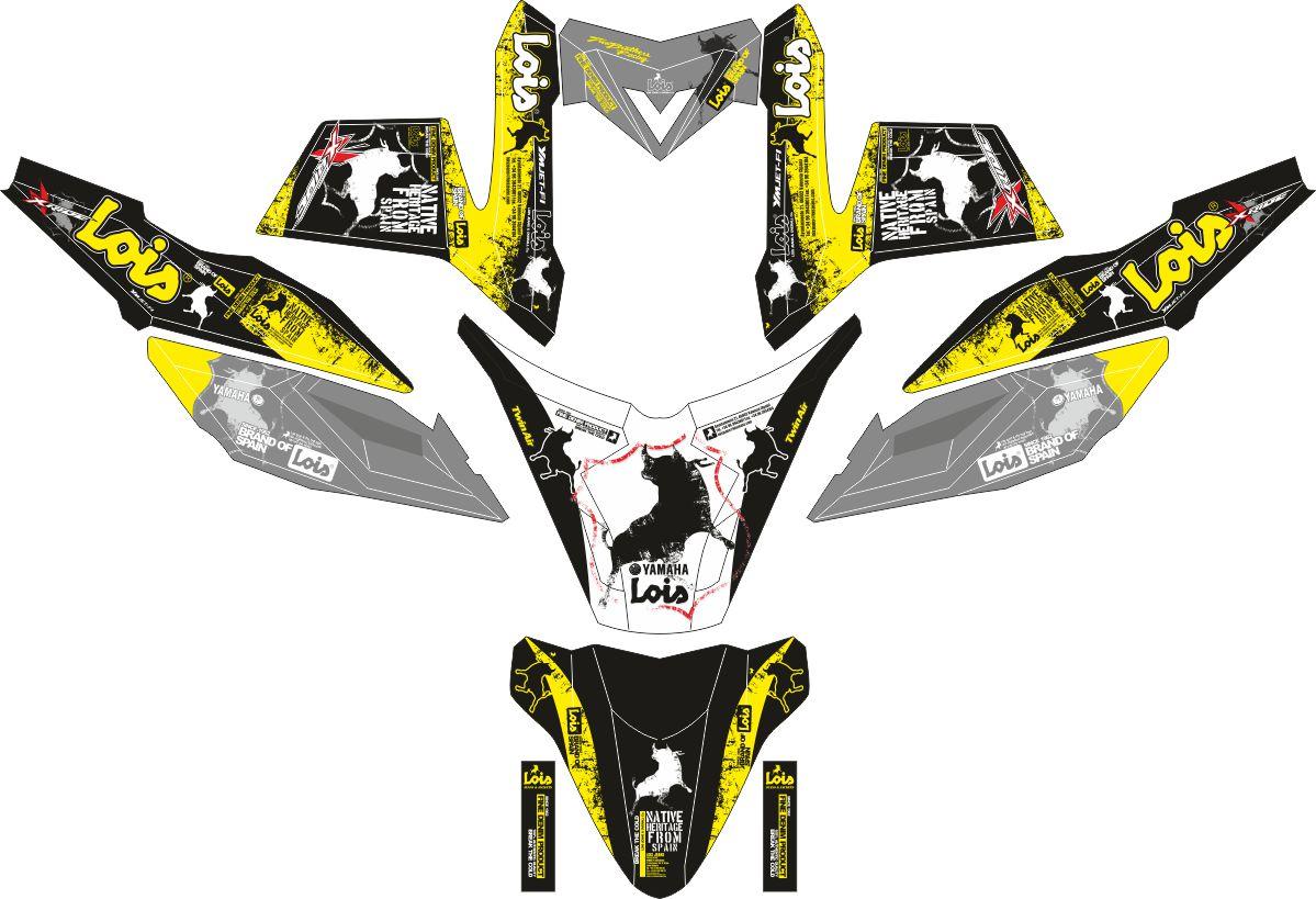 Комплект наклеек на скутер YAMAHA X RIDE LOIS JEANS