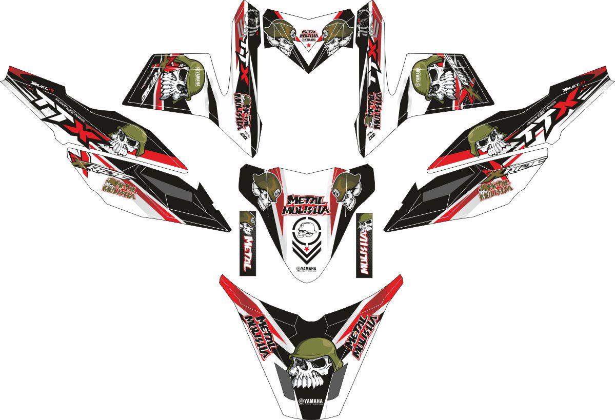 Комплект наклеек на скутер YAMAHA X RIDE METAL MULISHA