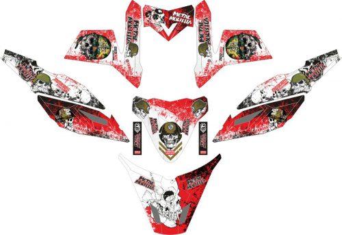 Комплект наклеек на скутер YAMAHA X RIDE METAL MULISHA2